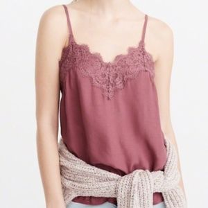 Dusty Rose Abercrombie Lace Camisole